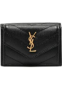 Saint Laurent Carteira Monogramada - Preto
