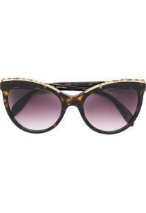 17022b8d05d68 ... Alexander Mcqueen Eyewear Cat Eye Sunglasses - Marrom