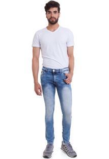 Calça Jeans Versani Lavagem Azul Clara