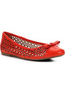 Sapatilha Shoestock Laser Basic - Feminino-Laranja