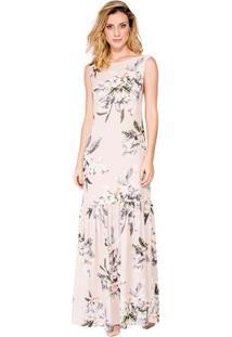 58c37968bb Occhi Azzurri. Vestido Evasê Print Floral Tulipas Alphorria ...