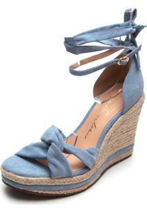 Sandã¡Lia Luiza Barcelos Corda Azul - Azul - Feminino - Dafiti