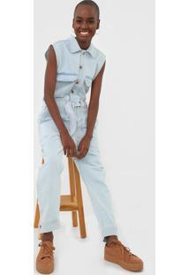 Macacã£O Jeans Dress To Slim Utilitã¡Rio Azul - Azul - Feminino - Algodã£O - Dafiti
