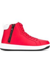 Ea7 Emporio Armani Hi-Top Sneakers - Vermelho