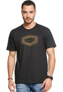 Camiseta Manga Curta Vlcs 18503 Masculina - Masculino-Preto