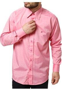 Camisa Manga Longa Masculina Rosa