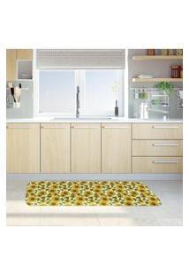 Tapete De Cozinha Mdecore Girassol Verde 40X120Cm