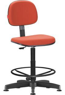 Cadeira Caixa Alta Secretária Giratória Crepe Vermelho