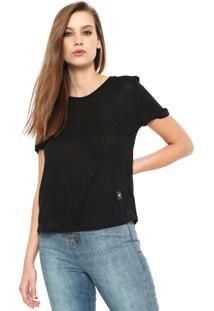 Camiseta Ellus 2Nd Floor Jersey Fine Preta