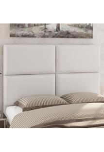 Cabeceira Casal 1,60 X 1,25 Donna Corino Branco - Viero Móveis
