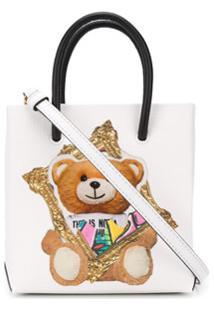 Moschino Bolsa Tote Mini Com Estampa Teddy Bear - Branco