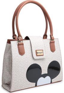 Bolsa Mickey Compacta Alça Dupla Mão Nude
