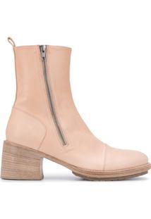 Ann Demeulemeester Ankle Boot Com Solado Chunky - Neutro