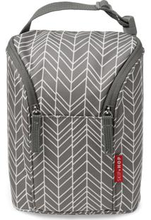 Bolsa Térmica Double Bottle Skip Hop - Linha On-The-Go Grey Feather