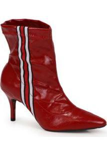 Ankle Boots Bruna Rocha Vermelho