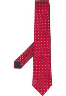 Lanvin Gravata Com Padronagem - Vermelho