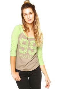 1237bd4b59 Blusa Hurley Verde feminina