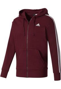 Blusa Adidas Essentials 3-Stripes Fz Hood