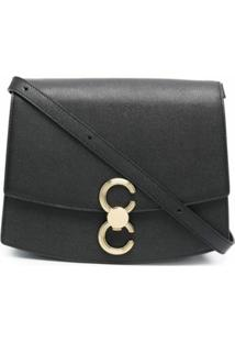 Cafuné Mini Leather Shoulder Bag - Preto