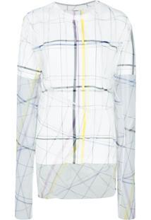 Y/Project Blusa Com Sobreposição Gráfica - Branco