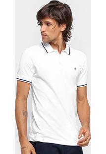 Camisa Polo Forum Malha Maquinetada Masculina - Masculino-Branco