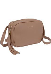 Bolsa Selten Mini Bag Feminina - Feminino-Bege