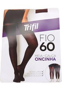 Meia Calça Trifil Onça Fio 40 Feminina - Feminino-Marrom
