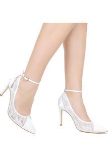Sapato Scarpin De Noiva Zariff Telha