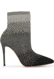Casadei Pointed-Toe Ankle Boots - Prateado