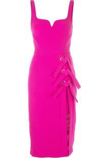 Rebecca Vallance Bustier Tie Dress - Rosa