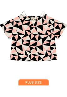 Blusa Feminina Plus Size Rosa