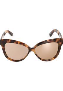 Linda Farrow Óculos De Sol Gatinho - Marrom