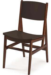 Cadeira Dumon Cacau E Marrom Escuro