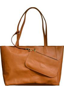 Bolsa Line Store Sacola Shopper N2 Couro Caramelo - Kanui