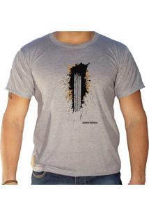 Camiseta Masculina Sandro Clothing Trakin Cinza
