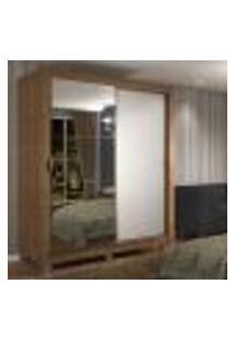 Guarda-Roupa Solteiro Madesa Dallas 2 Portas De Correr Com Espelho 2 Gavetas Com Pés