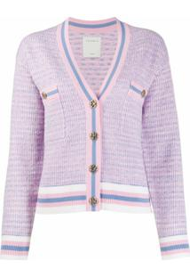 Sandro Paris Cardigan Cropped De Tweed - Rosa