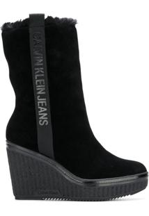 Calvin Klein Jeans Bota Plataforma - Preto