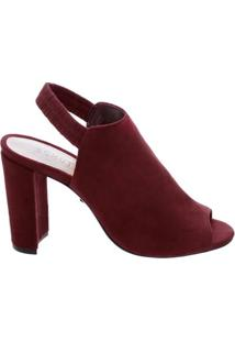 Sandal Boot Salto Camurça Red | Schutz