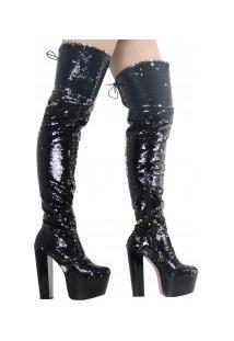Bota Zariff Shoes Over The Knee Salto Alto