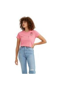 Camiseta Levi'S Perfect Pocket - 50155 Rosa