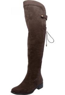 Bota Over Knee Mega Boots 977 Café - Kanui