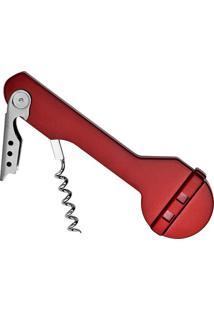 Saca-Rolhas & Abridor Profissional- Inox & Vermelho-Euro Homeware