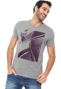 Camiseta Aramis Estampada Cinza