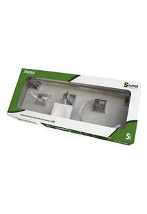 Kit De Acessórios Para Banheiro Kromus 5 Peças 22460 Cromado Sicmol