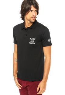 Camisa Polo Hurley Preta