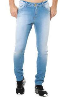 Calça Jeans Denuncia Skinny Masculina - Masculino-Jeans Claro
