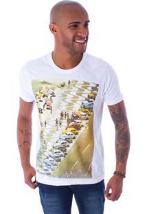 Camiseta Bossa Decote Canoa Fusca In Copa Branco