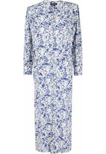 Isabel Marant Vestido Longo Com Estampa Abstrata - Azul