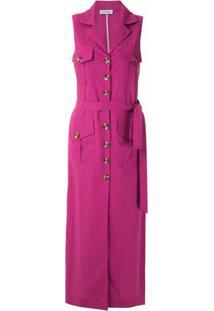 Olympiah Vestido Midi Bryone Com Amarração - Rosa